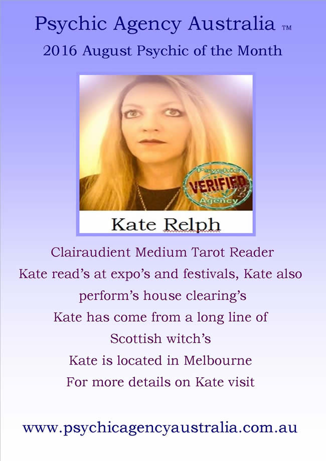Kate August 2016 Psychic of the month