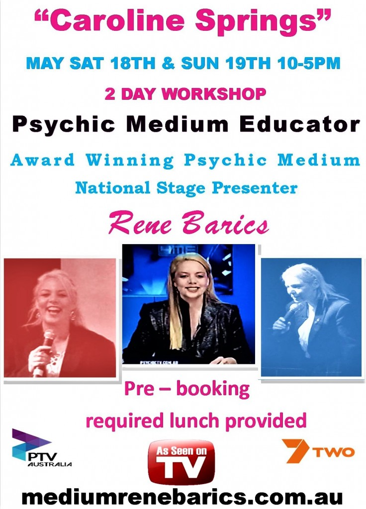 May 18 AND 19 2 DAYWORKSHOP